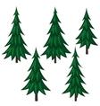 Set of cartoon fir trees vector image