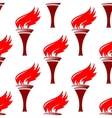Flaming torches seamless background pattern vector image vector image