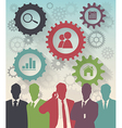 Color Silhouettes of Businessman gear concept vector image