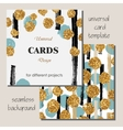 Universal Modern Stylish Card Template with Golden vector image