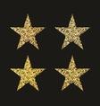 Golden glitter stars vector image