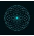 Circular mathematical ornament vector image