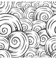 Seamless hand drawn texture of shells vector image