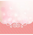 pink card frame cover vector image