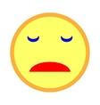 Sad smiley emoticon on white background 203 vector image