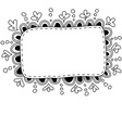Hand made doodle frame vector image