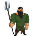 funny medieval farmer vector image