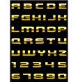 gold font vector image