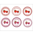 Logo strawberries and raspberries vector image