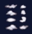 nightly background sky with set of clouds vector image