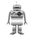Robot made of metal vector image