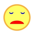 Sad smiley emoticon on white background 203 vector image