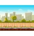 Seamless city landscape cityscape vector image