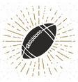vintage label hand drawn football soccer ball vector image