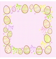 background for messages with egg rose vector image