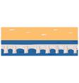 Stone Bridge Background vector image