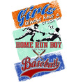 home run boy vector image