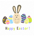 Easter colorful white card template vector image