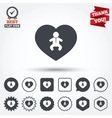 Love Baby infant icon Toddler boy symbol vector image