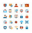 Flat Design Internet Security Icons vector image vector image