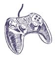Gamepad drawing vector image