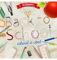 Back to school background EPS 1 vector image