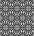 Black and White Circle Seamless Pattern vector image