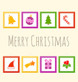 Christmas pictures vector image