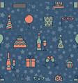 colorful vintage party icons seamless texture with vector image