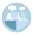 Digital iceberg and glacier icon vector image