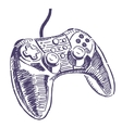 Gamepad drawing vector image