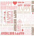 happy birthday alphabet headline seamless vector image