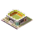 isometric soccer arena vector image
