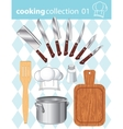 Kitchen and cooking collection vector image