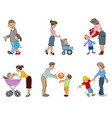 parents with children vector image