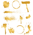 set of golden blots vector image