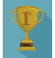 trophy championship winner vector image