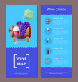 wine map choice template icons vector image