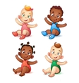Cute African American baby boy and girl Sweet vector image