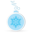 Christmas ball crafted vector image vector image
