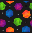 colorful gradient geometric diamonds seamless vector image vector image