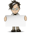 man with white background vector image vector image