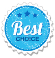 Best choice grunge stamp vector image vector image