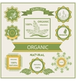 Organic products labels logo vector image