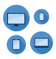 monitor phone tablet laptop set vector image