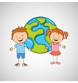 children around the world design vector image