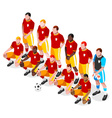 Soccer Team 2016 Sports 3D Isometric vector image vector image