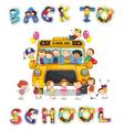 Back to school bus vector image