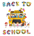Back to school bus vector image