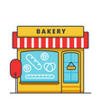 bakery building flat line  concept vector image